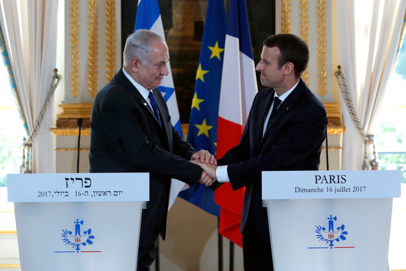 Reuters_netanyahu_macron_france_20170716